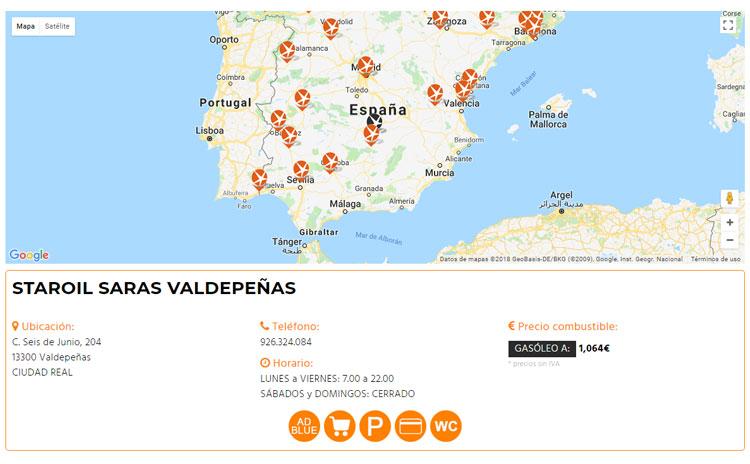 Web Gasolineras STAROIL