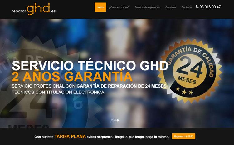 Web Reparaciones GHD