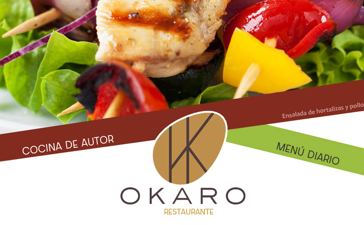 Diseño Carta Restaurante OKARO